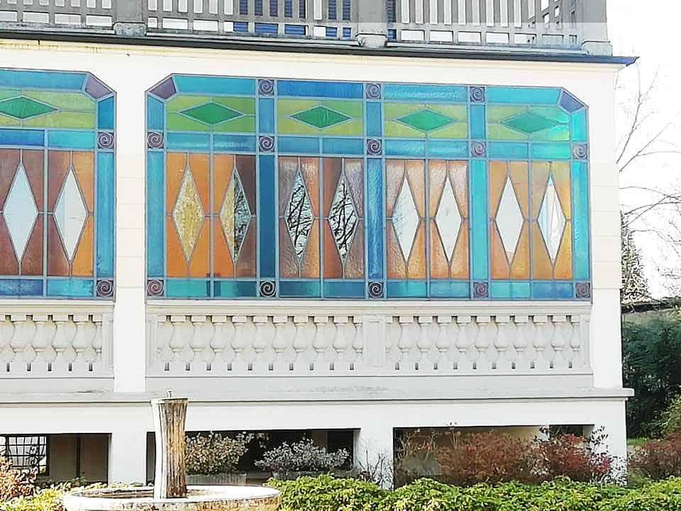 vetrata veranda restaurata